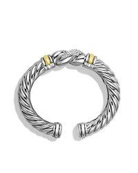 David Yurman | Metallic Metro Cuff With Diamonds And Gold | Lyst