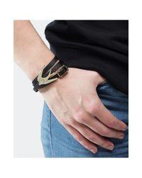 McQ Alexander McQueen - Black Leather Triple Wrap Swallow Bracelet - Lyst