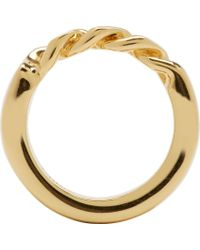 Chloé - Metallic Gold Carly Ring - Lyst