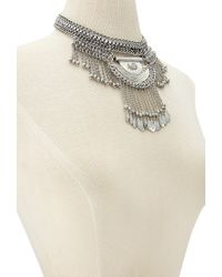 Forever 21   Metallic Layered Fringe Chain Necklace Set   Lyst