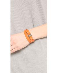 Ferragamo - Orange Gancini Double Wrap Bracelet - Lyst