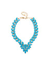 Oscar de la Renta - Blue Opaque Navette Necklace - Lyst