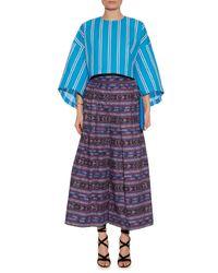 Stella Jean   Blue Criminologo Striped Cotton Top   Lyst