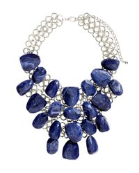 H&M | Blue Large Necklace | Lyst