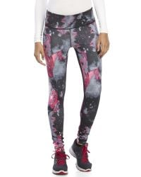 90 Degree By Reflex - Black Printed Leggings - Lyst