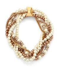 Kate Spade | Natural Parlour Faux Pearl Twisted Statement Necklace | Lyst