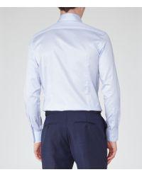Reiss - Blue Redknap Button-down Cotton Shirt for Men - Lyst