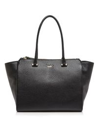 kate spade new york - Black Emerson Place Smooth Holland Tote - Lyst
