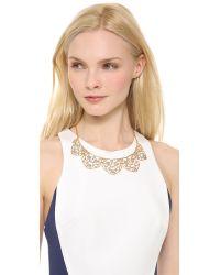 Alexis Bittar - Metallic Mosaic Lace Bib Necklace - Lyst
