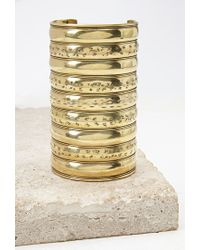 Forever 21 - Metallic Etched Arm Cuff - Lyst