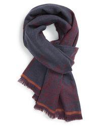 Etro - Purple Paisley Wool Scarf - Burgundy for Men - Lyst
