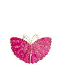 Zandra Rhodes | Purple Pink Butterfly Brooch | Lyst