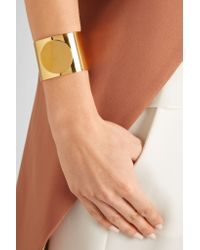 Arme De L'Amour - Metallic Circle Gold-plated Cuff - Lyst