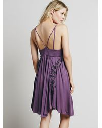 Free People - Purple Intimately Womens Embroidered Babydoll Slip - Lyst