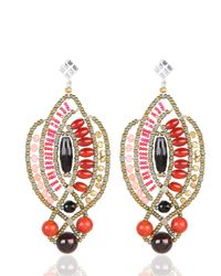 Ziio | Orange Mild Red Earrings | Lyst