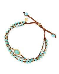Tai - Blue 3-strand Amazonite Beaded Bracelet - Lyst