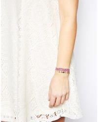 ASOS - Pink Coin Friendship Bracelet - Lyst