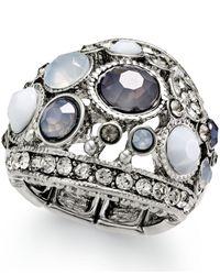 INC International Concepts - Metallic Silver-Tone Gray Stone Stretch Ring - Lyst