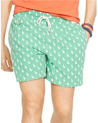 Polo Ralph Lauren - Green Traveler Sailboat-print Swim Short for Men - Lyst
