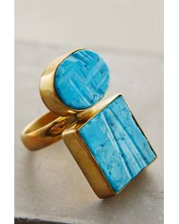 Anthropologie - Blue Standing Stones Ring - Lyst