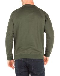 Racing Green | Green Devon Panelled Marl Sweat for Men | Lyst