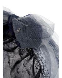 Maison Michel | Black 'gracy' Tulle Bow Headband | Lyst