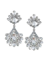 Carolee | Metallic Haute Hollywood Crystal Pear Drop Earrings | Lyst