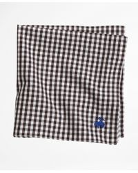 Brooks Brothers - Brown Gingham Pocket Square for Men - Lyst