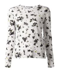 Proenza Schouler | White Floral Tee Shirt | Lyst
