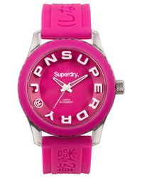 Superdry - Women's Tokyo Pink Silicone Strap Watch 38mm Iww-d10310152 - Lyst
