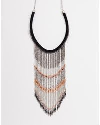 ASOS | Multicolor Statement Fringe Necklace | Lyst