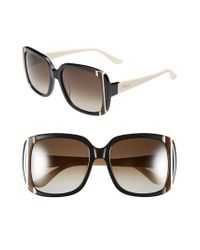 Ferragamo | Black 56mm Sunglasses | Lyst