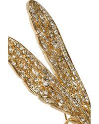 Kenneth Jay Lane - Metallic Gold Plated Crystal Dragonfly Brooch - Lyst