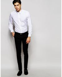 Hart Hollywood - Pink By Nick Hart Shirt With Point Collar In Slim Fit for Men - Lyst
