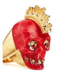 Alexander McQueen - Red Plexiglas Mohawk Skull Ring - Lyst