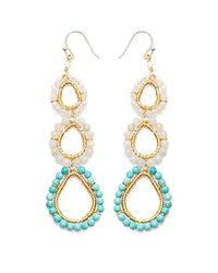 Nakamol | Multicolor Three Tier Earrings-turquoise Mix | Lyst