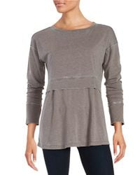 Calvin Klein | Gray Mock Layered Top | Lyst