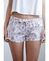 Forever 21 - Multicolor Clustered Rose Pj Shorts - Lyst