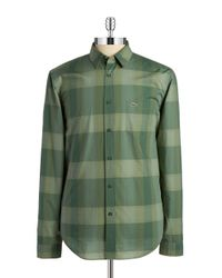 Lacoste | Green Cotton Sportshirt for Men | Lyst