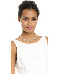 kate spade new york | Metallic Palace Gems Mini Necklace Creamclear | Lyst