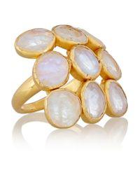 Pippa Small | Metallic 18-Karat Gold Rainbow Moonstone Ring | Lyst