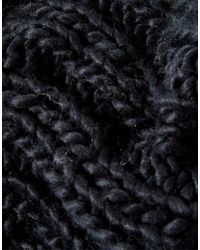 Pieces - Black Oversized Chunky Infinity Scarf Scarf - Lyst