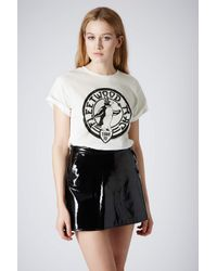 TOPSHOP - White Fleetwood Mac Tee By and Finally - Lyst