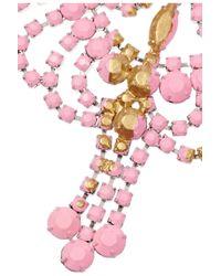 Tom Binns | Metallic Gilded Pleasure Rhodium-Plated Crystal Necklace | Lyst