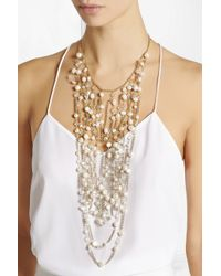 Rosantica - White Cometa Gold-Dipped, Bead And Freshwater Pearl Necklace - Lyst