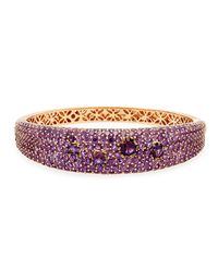 Roberto Coin | Fantasia 18K Red Gold & Amethyst Bracelet | Lyst