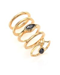 Eddie Borgo | Metallic Navette Crystal Ring Set | Lyst