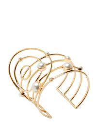 Eshvi - Metallic Astro 10 Gold Cuff Bracelet - Lyst