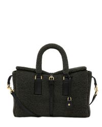 Mulberry | Black Small Roxette Shearling Top Handle | Lyst
