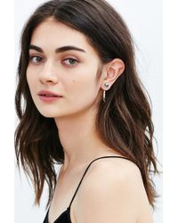 Urban Outfitters - Metallic Jagger Front/back Post Earring - Lyst